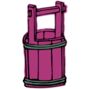 download Wooden Bucket clipart image with 315 hue color