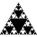 download Sierpinskis Triangle clipart image with 135 hue color