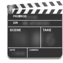 download Motion Picture Film Slate Clapper clipart image with 135 hue color