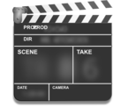 Motion Picture Film Slate Clapper