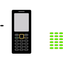 download Cellphone clipart image with 45 hue color