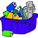 download Recycle Bin clipart image with 45 hue color