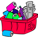 download Recycle Bin clipart image with 135 hue color