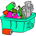 download Recycle Bin clipart image with 315 hue color