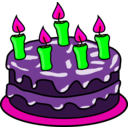 download Chocolate Birthday Cake clipart image with 270 hue color
