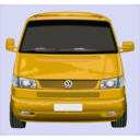 download Roter Vw Bus clipart image with 45 hue color
