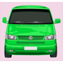 download Roter Vw Bus clipart image with 135 hue color