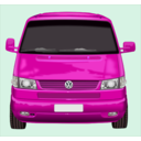 download Roter Vw Bus clipart image with 315 hue color