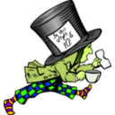 download Mad Hatter With Label On Hat clipart image with 45 hue color