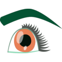 download Eye clipart image with 135 hue color