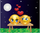 Lovers Moon Smiley Emoticon