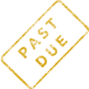 download Past Due Business Stamp 2 clipart image with 45 hue color