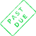 download Past Due Business Stamp 2 clipart image with 135 hue color