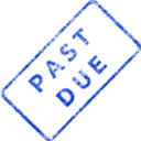 download Past Due Business Stamp 2 clipart image with 225 hue color