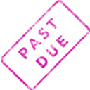 download Past Due Business Stamp 2 clipart image with 315 hue color