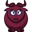 download Cartoon Gnu Nerdy Cute clipart image with 315 hue color