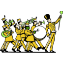 download Marching Band clipart image with 45 hue color