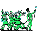 download Marching Band clipart image with 135 hue color