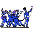 download Marching Band clipart image with 225 hue color