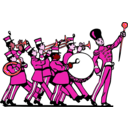 download Marching Band clipart image with 315 hue color