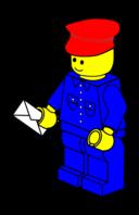 Lego Town Postman