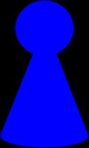 Ludo Piece Peacock Blue