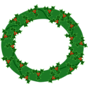 Evergreen Wreath With Large Holly 01