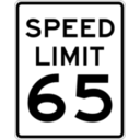 download Speed Limit 65 clipart image with 315 hue color