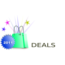 download Shopping Deals clipart image with 225 hue color