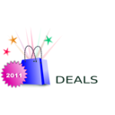 download Shopping Deals clipart image with 315 hue color