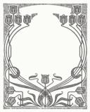 Art Nouveau Flower Frame