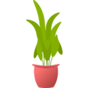 download Plant In Pot clipart image with 315 hue color