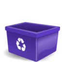 download Empty Recycling Box No Words clipart image with 45 hue color