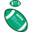 download Football clipart image with 135 hue color