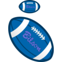 download Football clipart image with 180 hue color