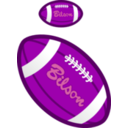 download Football clipart image with 270 hue color