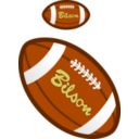 download Football clipart image with 0 hue color