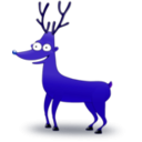 download Deer clipart image with 225 hue color