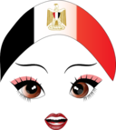 Pretty Egyptian Girl Smiley Emoticon