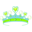download Princess Crown clipart image with 135 hue color