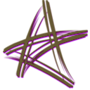 download Artistic Star clipart image with 45 hue color