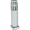 download Coit Tower From Above clipart image with 135 hue color