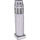 download Coit Tower From Above clipart image with 225 hue color