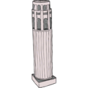 download Coit Tower From Above clipart image with 315 hue color