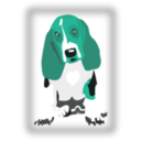 download Dog With Javascript For Scaling clipart image with 135 hue color