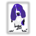 download Dog With Javascript For Scaling clipart image with 225 hue color