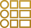 Gold Frames Set