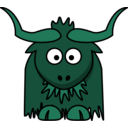 download Cartoon Yak clipart image with 135 hue color