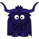 download Cartoon Yak clipart image with 225 hue color