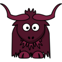 download Cartoon Yak clipart image with 315 hue color